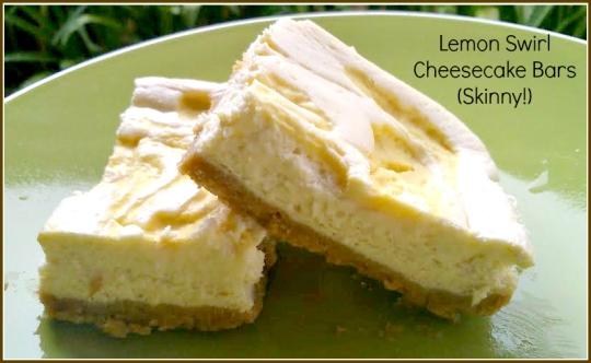Bee's Baking - Lemon Swirl Cheesecake Bars (Skinny!)